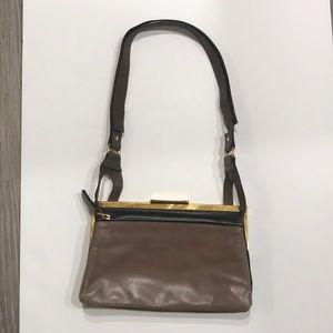 Marni combo black and taupe leather bag